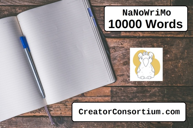 NaNoWriMo Update: 10000 words.