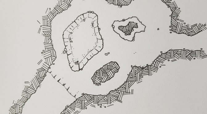 RPG Map Dungeon Cave Dungeons and Dragons DM